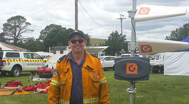 Dave with the latest 4GX WiFi Hotspot for First Responders