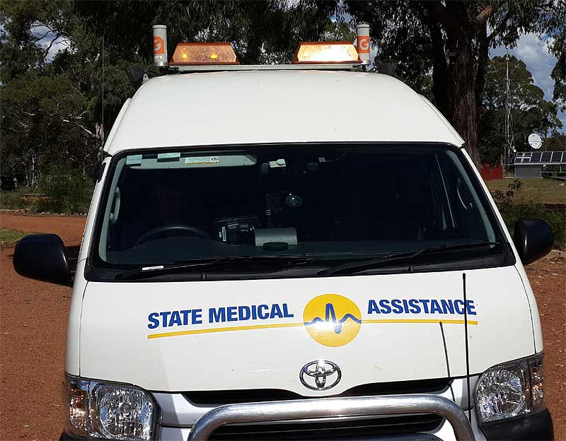 Using 2 G Spotter Stubby antennas, State Medical can now access fast 4GX wireless broadband and also create a large wireless Hotspot for WiFi devices around the ambulance